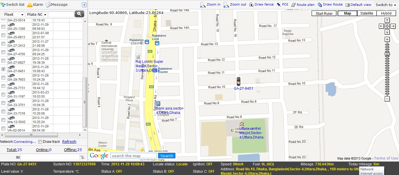 Online GPS Tracking System in Bangladesh