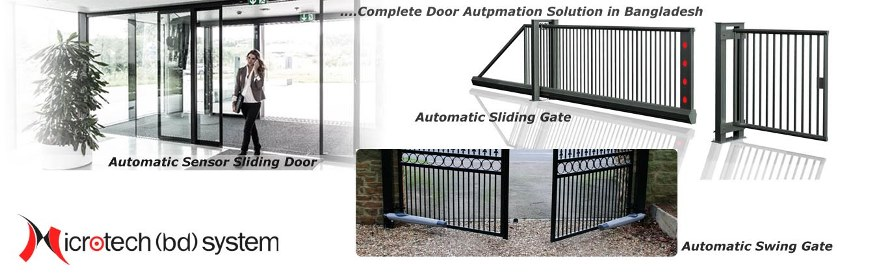 Automatic Sensor Predesterian Door, Automatic Garage Door, Automatic Gate Opener, Swing Gate Opener Complete System in Bangladesh